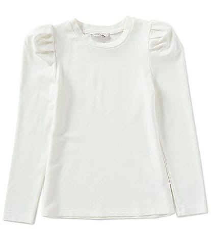 Habitual Big Girls 7-14 Puff-Sleeve Selena Slub Ponte Top