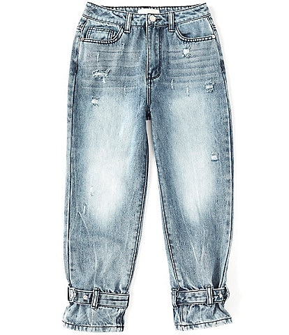Habitual Big Girls 7-16 Adyson Belted-Cuffs Jeans