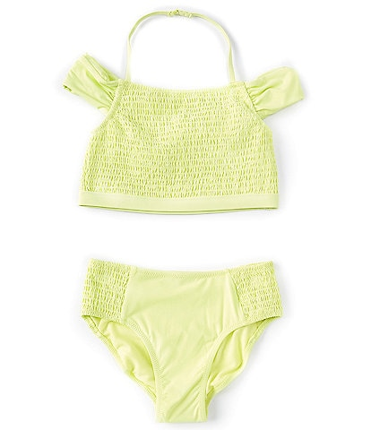 Habitual Big Girls 7-16 Bryana Smocked Tankini Two-Piece Swimsuit