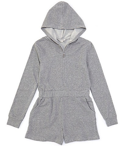 Habitual Big Girls 7-16 Ember French Terry Hooded Romper