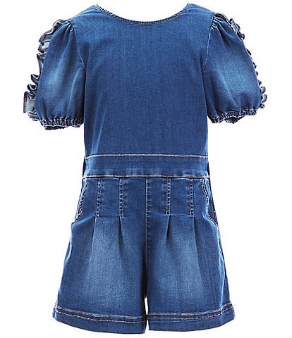 Habitual Big Girls 7-16 Maeve Ruffled-Sleeve Romper