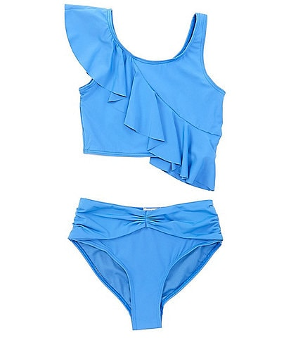 Habitual Big Girls 7-16 Ruffled Tankini Top & Hipster Bottom Two-Piece Swimsuit