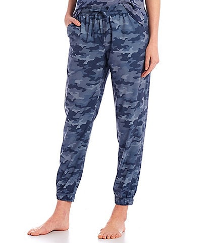 Half Moon by Modern Movement Camouflaged Print Woven Lounge Jogger Pants