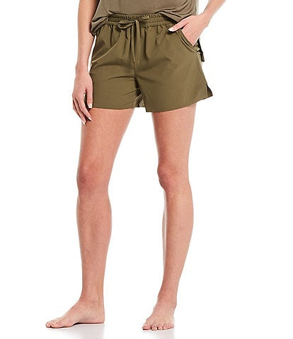 Half Moon by Modern Movement Solid Woven Lounge Shorts