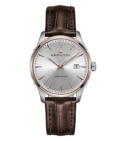 Hamilton Jazzmaster Gent Analog & Date Leather-Strap Watch