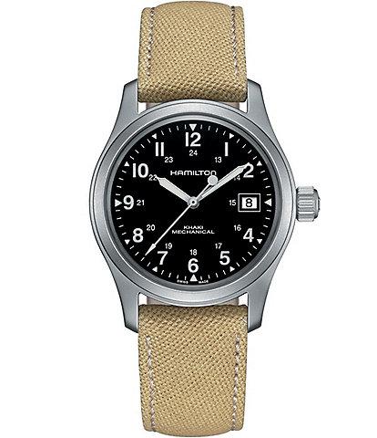 Hamilton Khaki Field Mechanical Canvas Strap Bracelet Watch