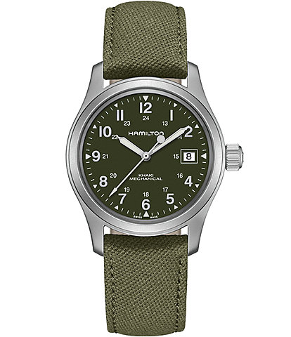 Hamilton Khaki Field Mechanical Canvas Strap Watch