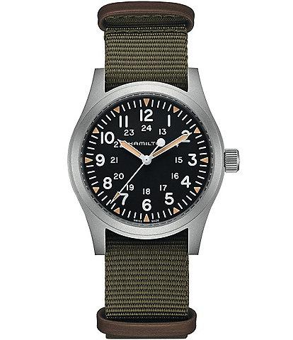Hamilton Khaki Field Mechanical NATO Strap Automatic Bracelet Watch