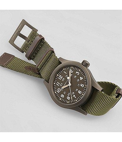 Hamilton Khaki Field Mechanical NATO Green Strap Watch