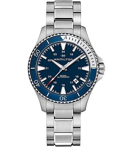 Hamilton Khaki Navy Scuba Automatic Crystal Sapphire Bracelet Watch