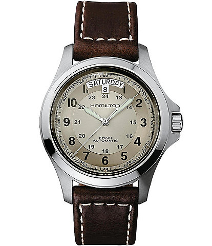 Hamilton Men's Khaki Field King Automatic Leather Strap Watch