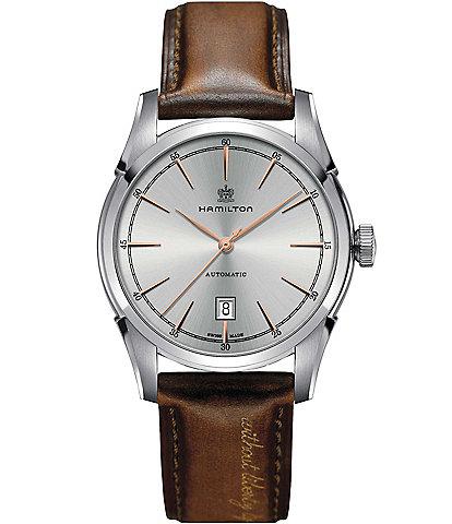 Hamilton Spirit of Liberty Automatic Leather-Strap Watch