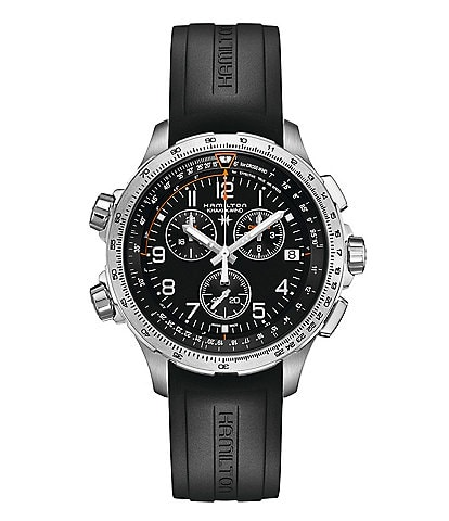 Hamilton X-Wind Chronograph & Date Rubber-Strap Watch