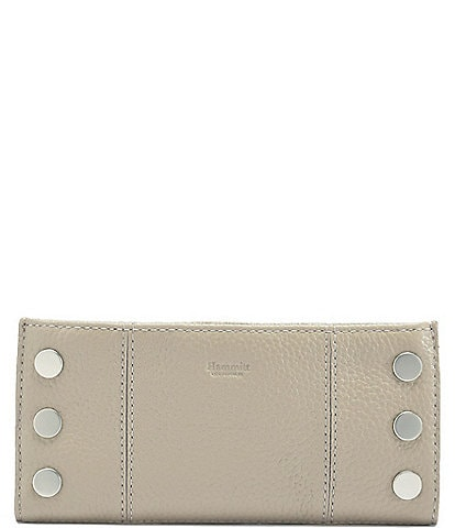 Hammitt 110 North Pebble Leather Rivet Checkbook Wallet