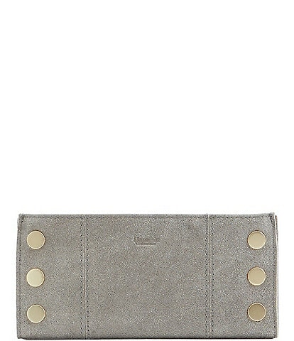 Hammitt 110 North Suede Brushed Leather Slim Wallet