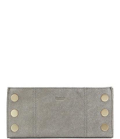 Hammitt 110 North Suede Brushed Leather Slim Wallet