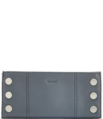 Hammitt 110 North Slim Pebble Leather Studded Rivet Magnetic Wallet