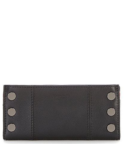 Hammitt 110 North Slim Pebble Leather Studded Rivet Magnetic Wallet