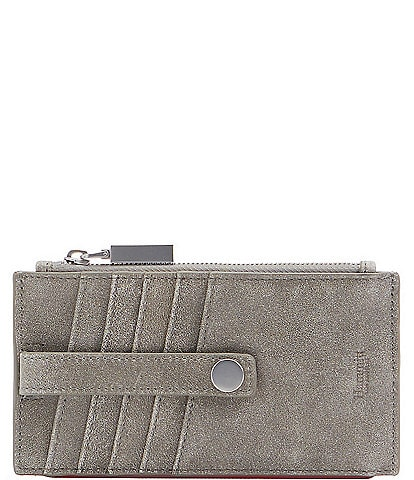 Hammitt 210 West Leather Pewter Card Holder