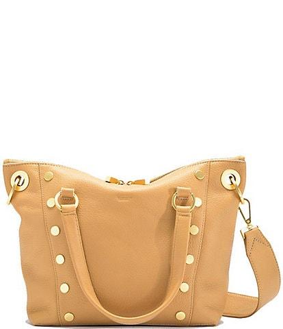 Hammitt Daniel Pebble Leather Studded Medium Satchel Bag