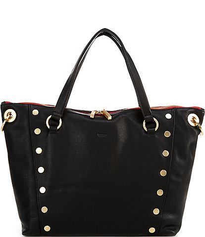 Hammitt Daniel Rivet Large Grey Leather Satchel Bag