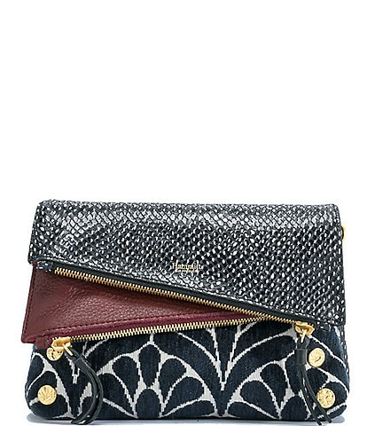 Hammitt Dillon 6-Way Flap Snake Embossed Small Crossbody Bag