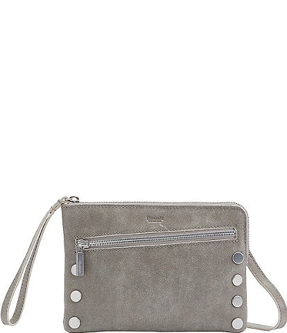 Hammitt Nash Small Convertible Studded Suede Top Zip Crossbody Bag