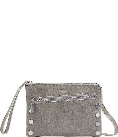 Hammitt Nash Small Convertible Suede Top Zip Rivet Crossbody Bag