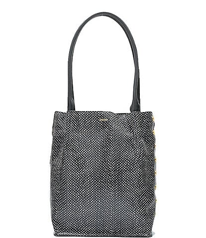 Hammitt Oliver Embossed Snake Print Medium Tote Bag