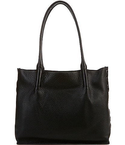 Hammitt Oliver Rivet Embossed Pebble Leather Lizard Snap Tote Bag