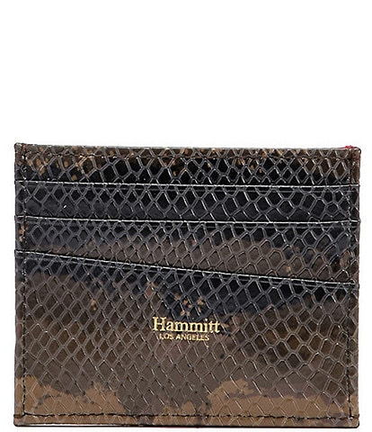 Hammitt PCH Snake Printed Leather Credit Card Wallet