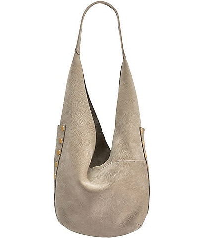 Hammitt Tom Snap Studded Leather Hobo Bag
