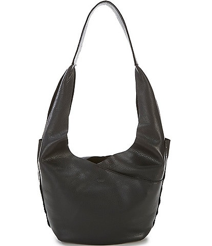 Hammitt Tom Snap Studded Leather Hobo Bag