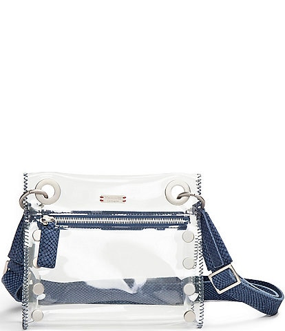 Hammitt Tony Small Clear Grommet Studded Crossbody Bag