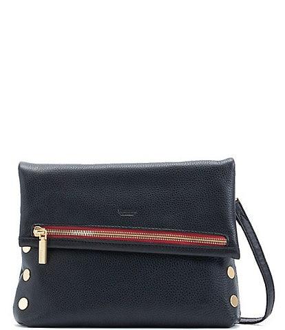 Hammitt VIP Fold-Over Medium Crossbody Bag with Contrast Zipper