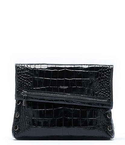 Hammitt VIP Fold Over Medium Crocodile-Embossed Crossbody Bag