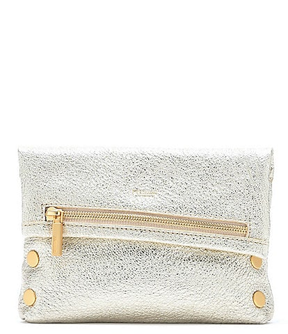 Hammitt VIP Metallic Small Embossed-Leather Crossbody Bag