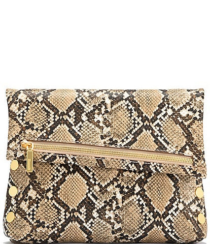 Hammitt VIP Snake Fold-Over Medium Crossbody Bag