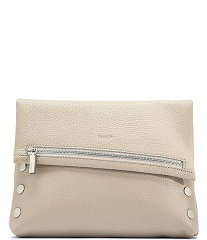 Hammitt VIP Studded Leather Fold-Over Zip Flap Medium Crossbody Bag
