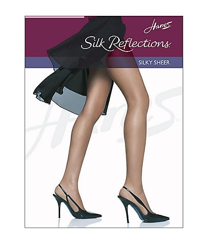Hanes Silk Reflections Silky Sheer Reinforced Toe Pantyhose