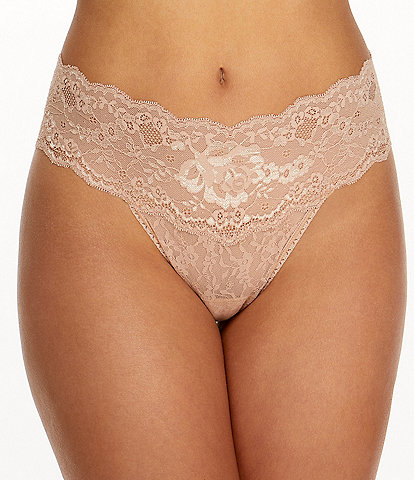 Hanky Panky America Beauty Rose Lace Natural Rise Thong