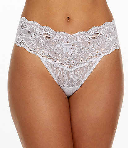Hanky Panky America Beauty Rose Natural Rise Thong