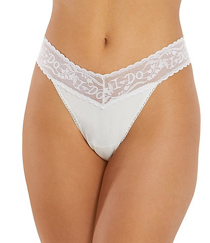 Hanky Panky Bridal #double;I Do#double; Embroidered Original Rise Thong