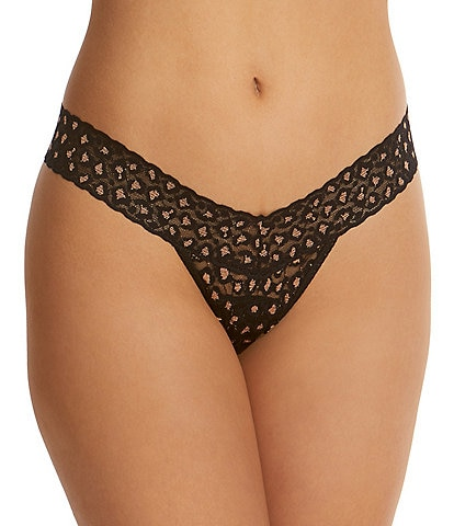 Hanky Panky Cross-Dyed Leopard Print Low Rise Thong
