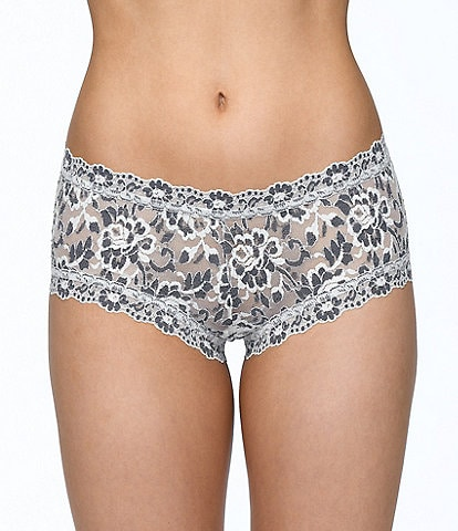 Hanky Panky Cross-Dyed Lace Boy Short Panty
