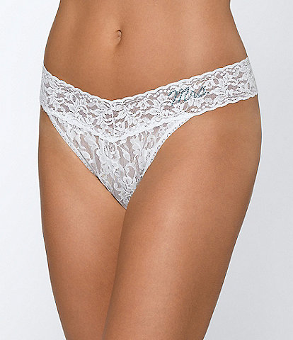 Hanky Panky Mrs. Original-Rise Floral Lace Thong