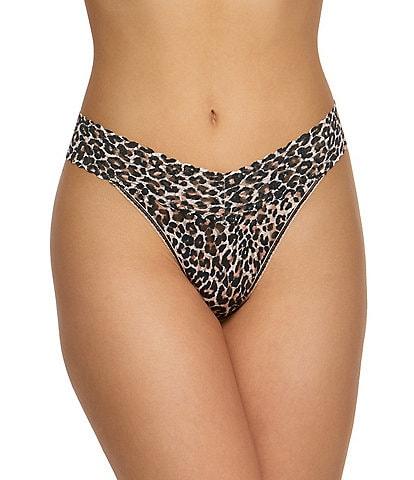 Hanky Panky Orginal Lace Leopard Thong