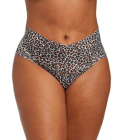 Hanky Panky Plus Retro Signature Lace Leopard Print Thong