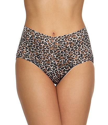Hanky Panky Retro Signature Lace Leopard Print Panty