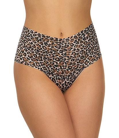 Hanky Panky Retro Signature Leopard Print Lace Thong